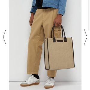 Want Les Essentiels Beige Canvas Tote Bag